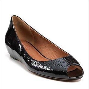 New Corso Como Black Leather Ballet Flats 6.5